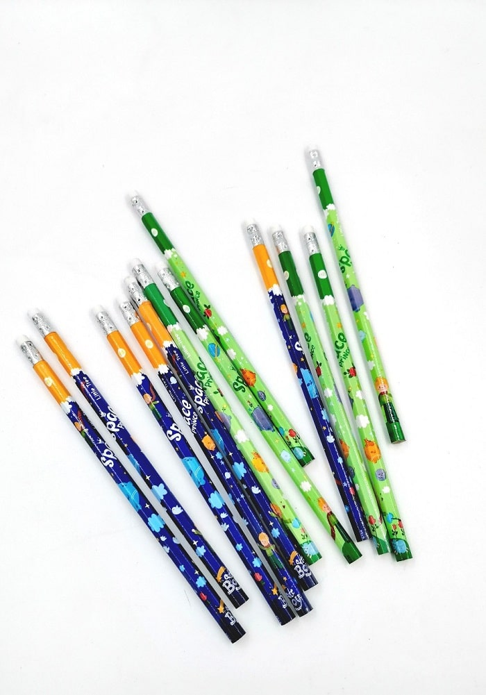 space theme pencils return gifts birthday