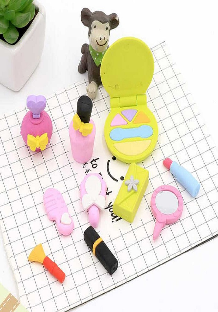 fancy and cute erasers barbie