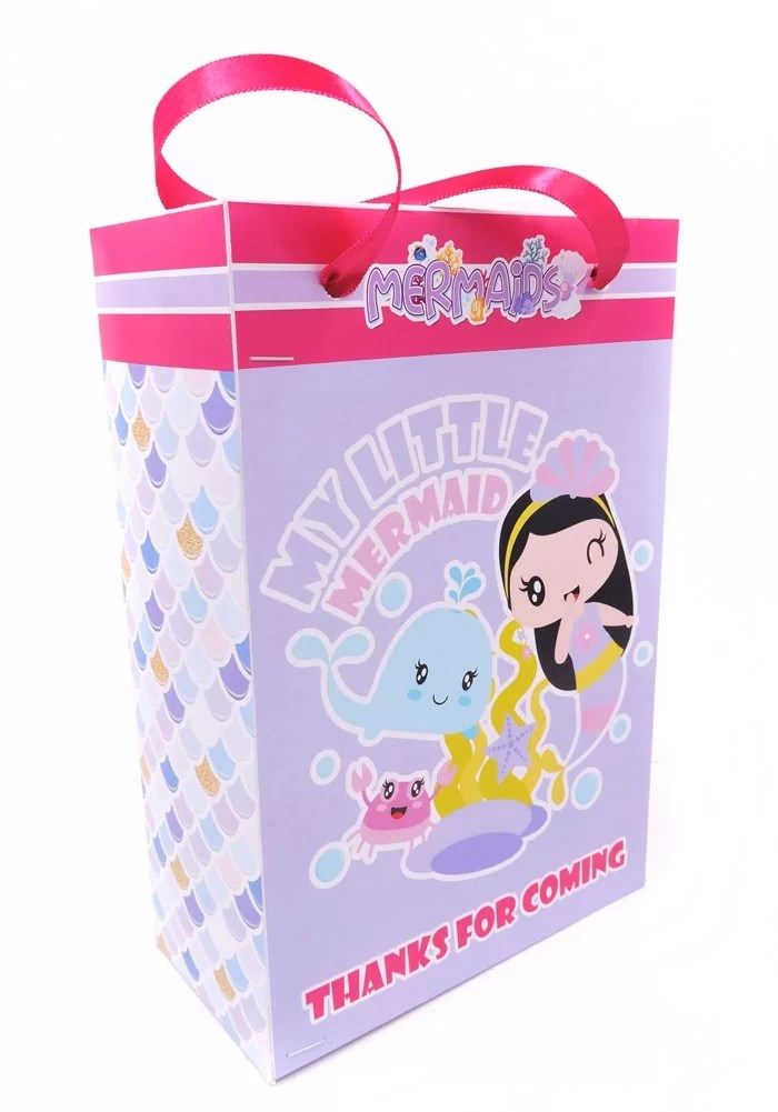 mermaid theme paper bags online india for return gifts