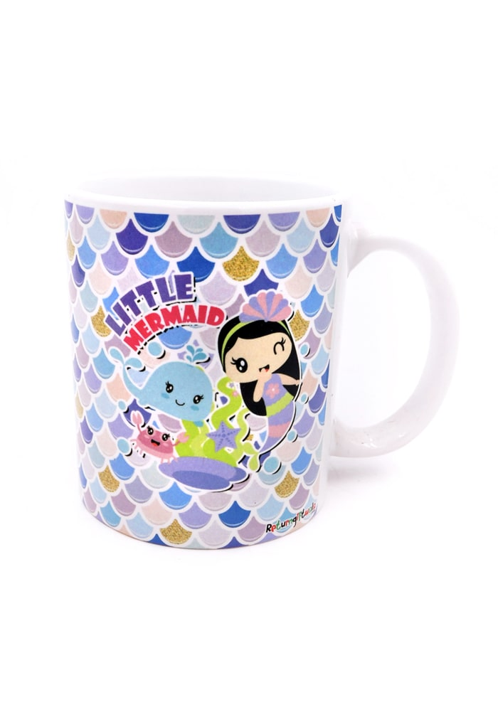mermaid theme bone china mug