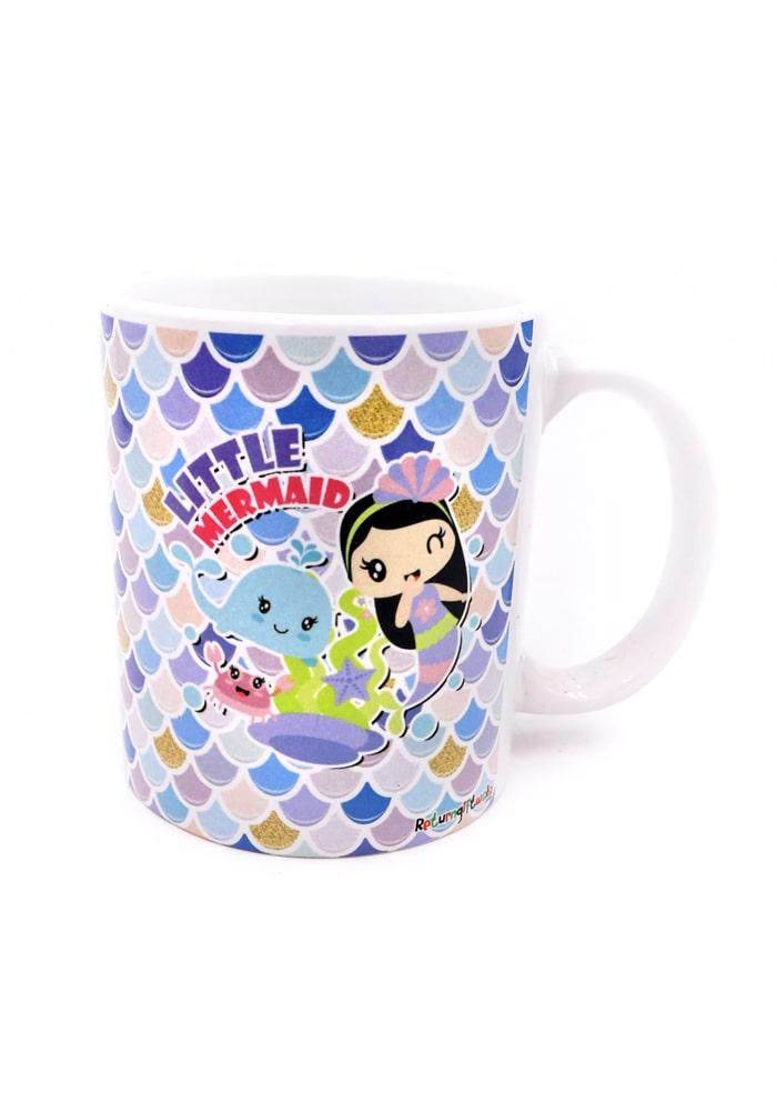 mermaid theme bone china mug