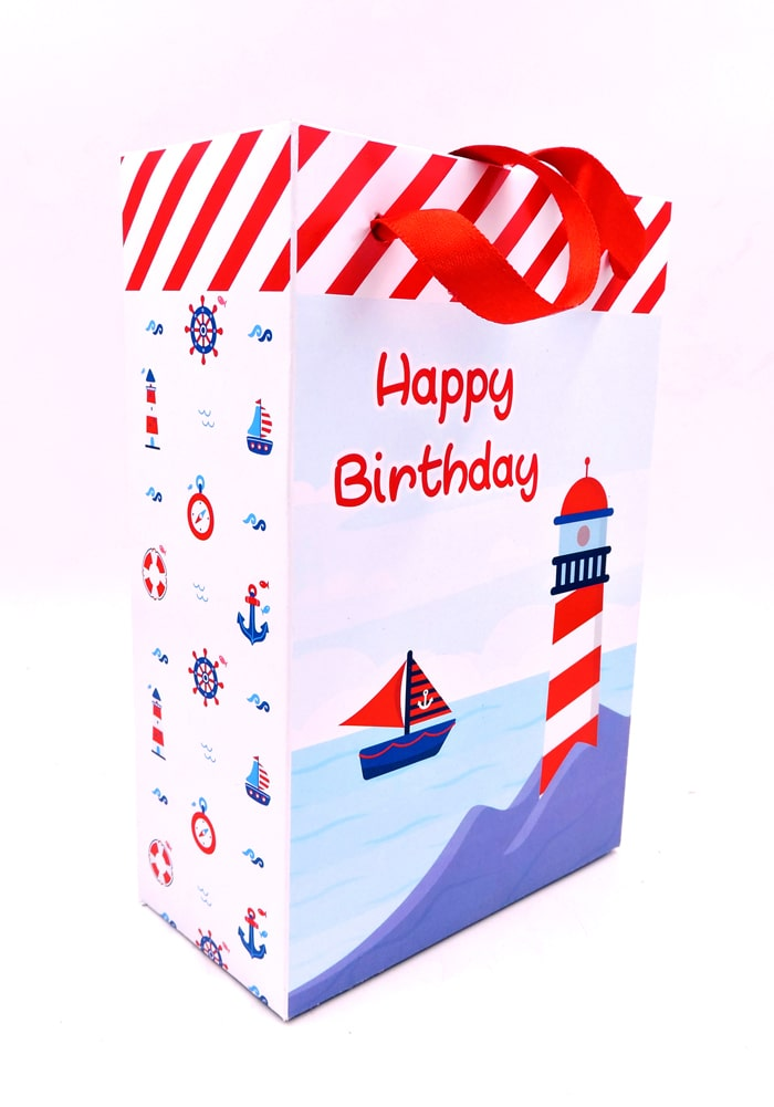 nautical theme paper bag for return gifts