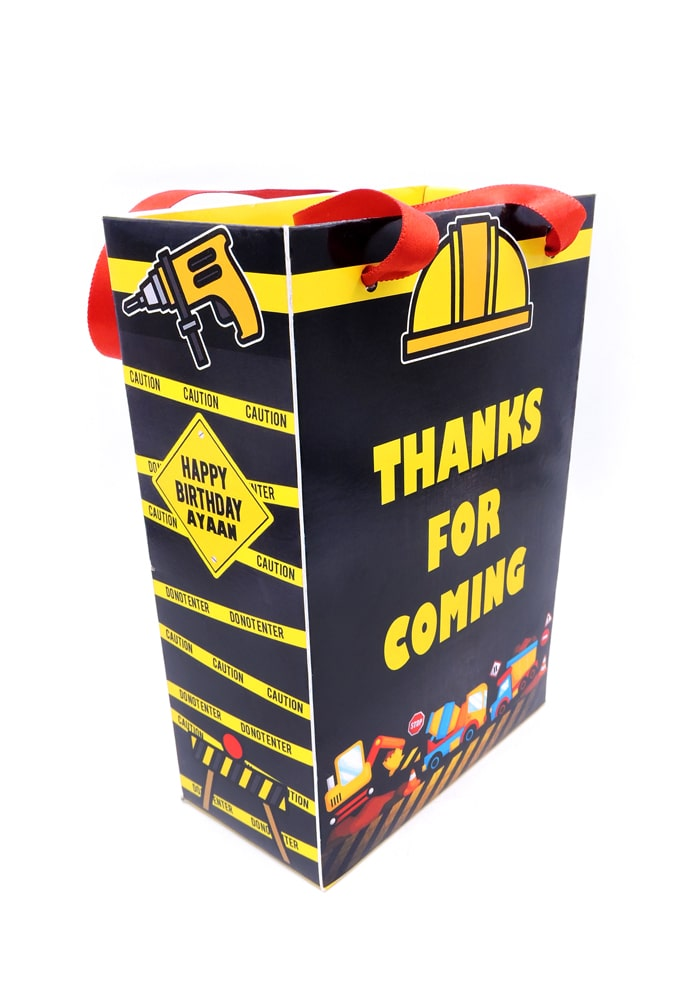 construction theme paper bag design gifting