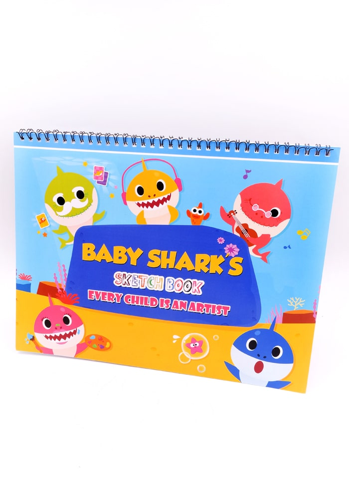 baby shark theme party supplies drawing book