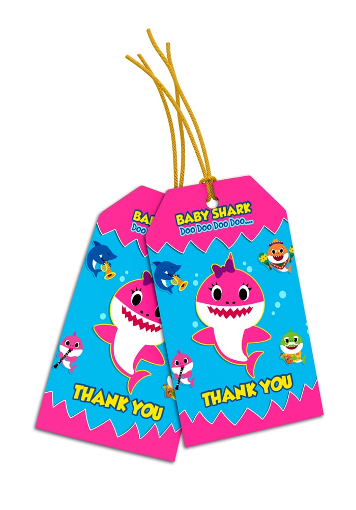 baby shark theme thank you cards for return gifts