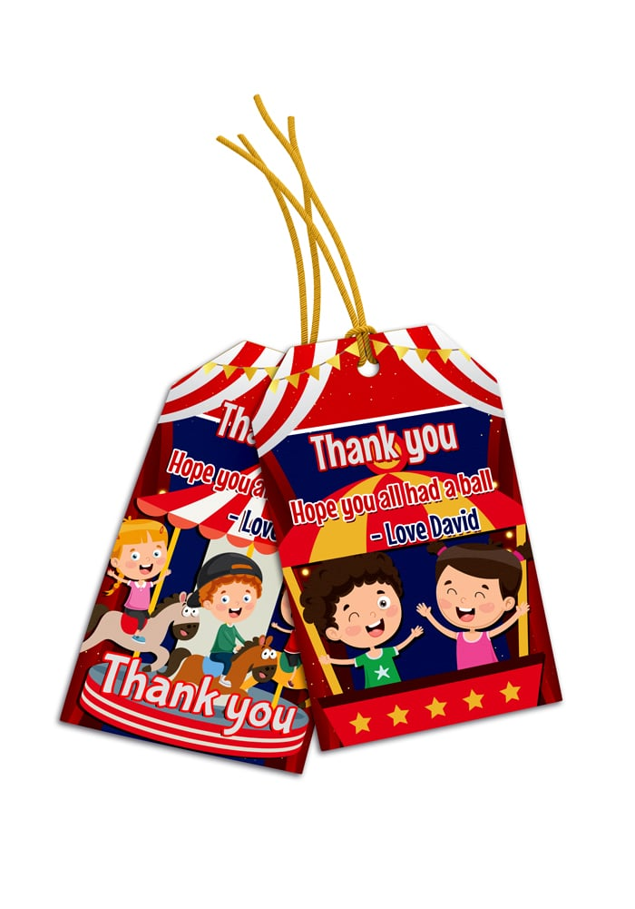 carnival theme thank you cards