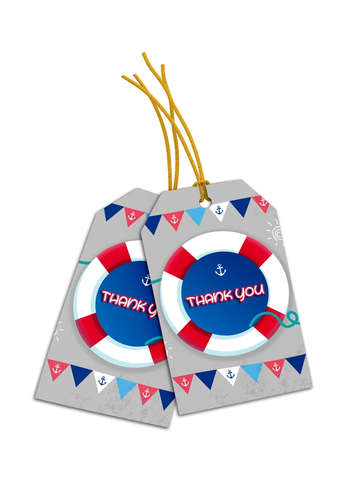 nautical theme thank you cards