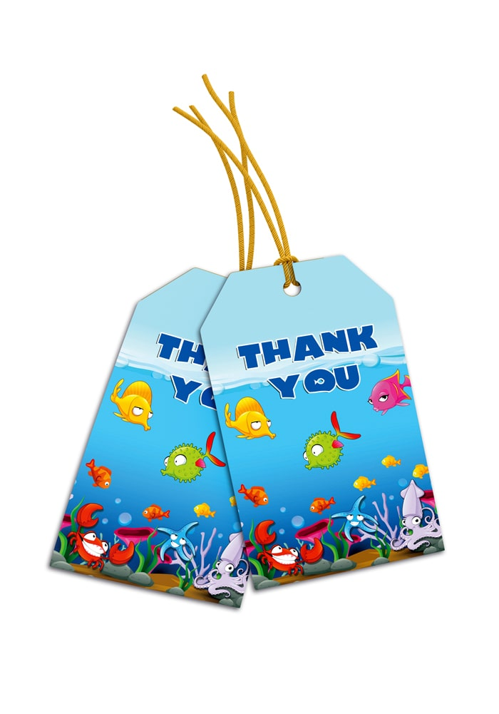 under water theme thank you cards