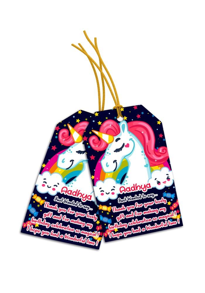 unicorn theme thank you cards