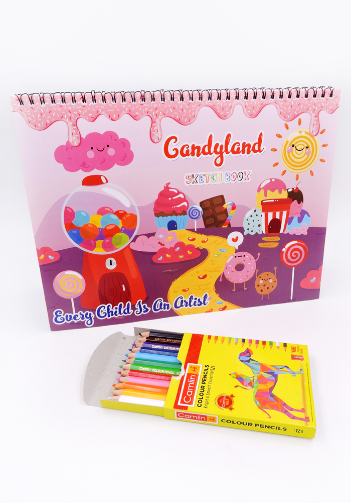 candy land theme birthday favors drawing book