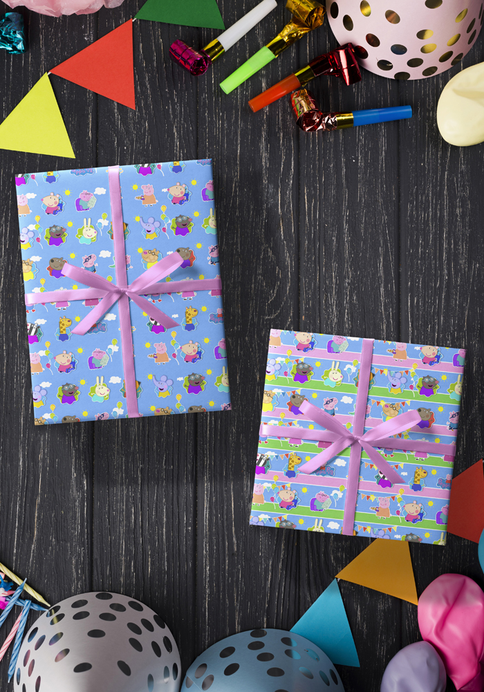 peppa pig gift wrapping sheets