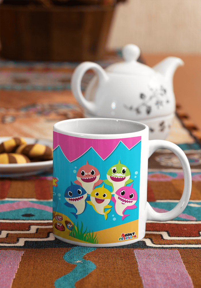baby shark theme doo doo coffee mug bone china online india