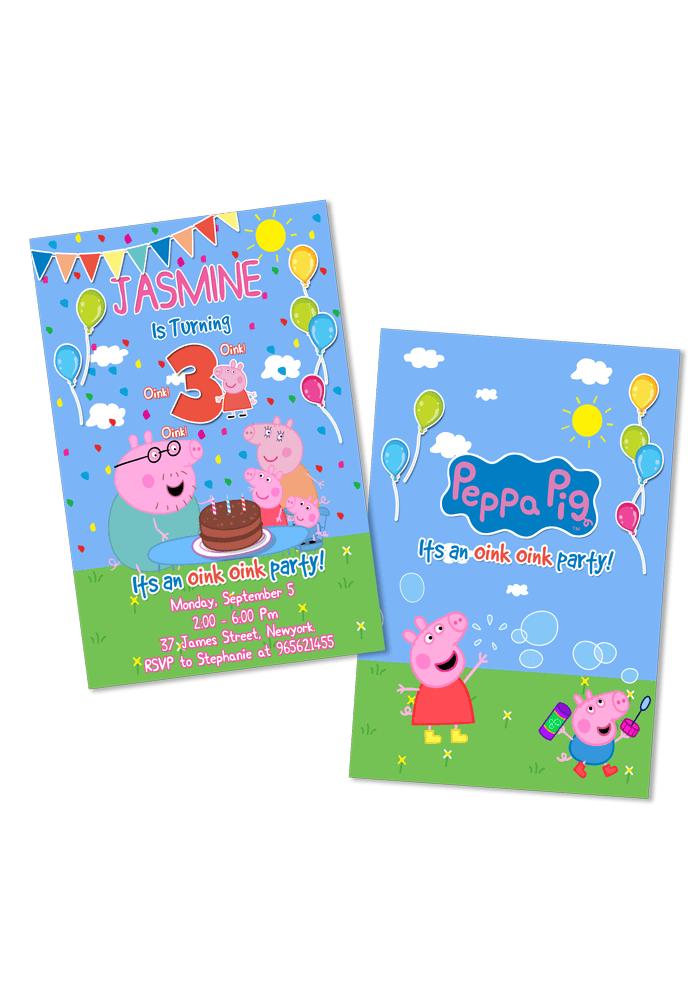 peppa pig invitation for birthday