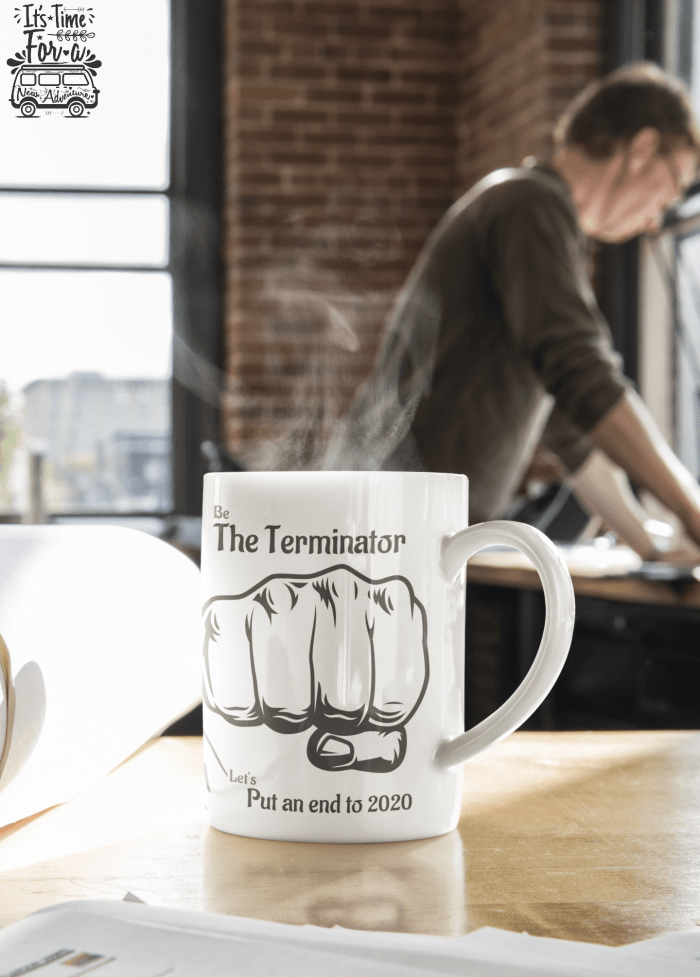 the terminator series coffee mugs designer by the infant poet-one of a kind