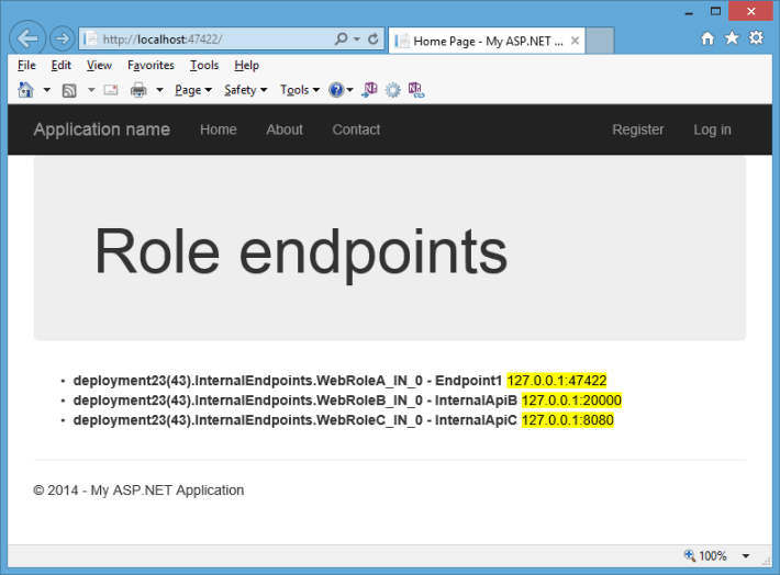 role endpoints list local
