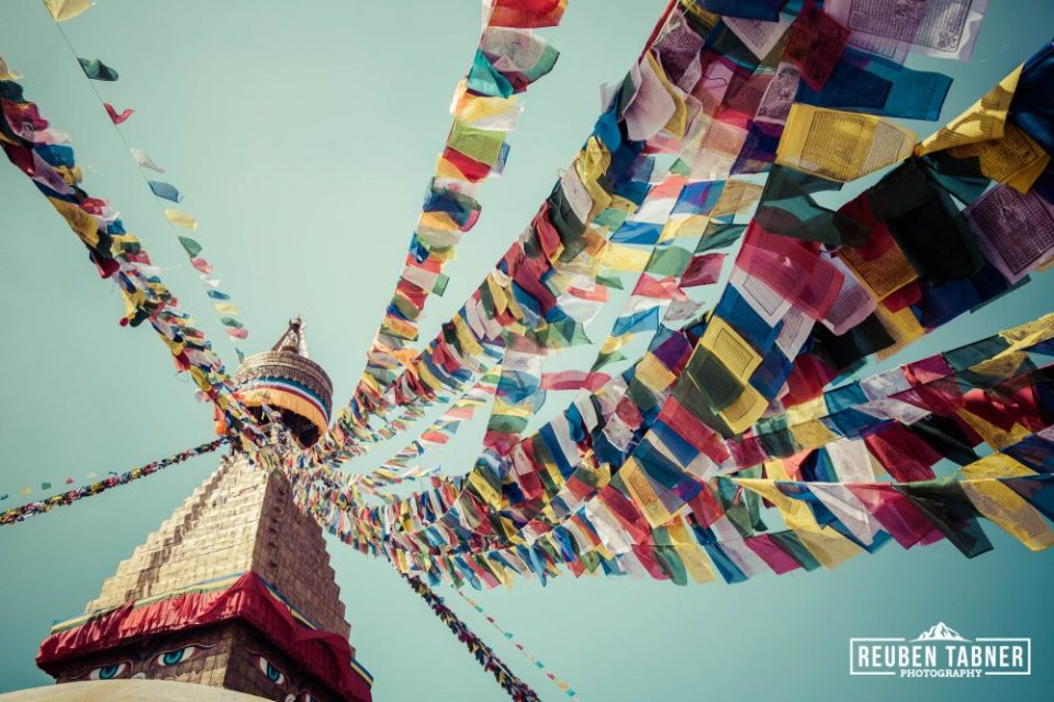 The Eyes of Buddha on the Boudhanath Stupa.
