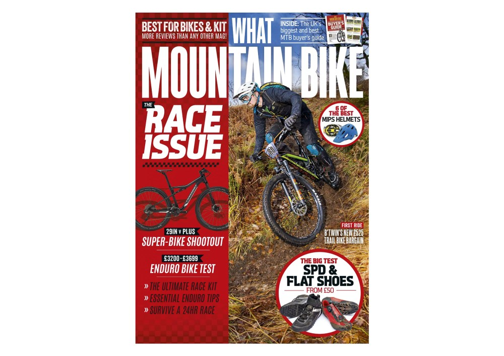 Front cover of What Mountain Bike Magazine, March 2017.