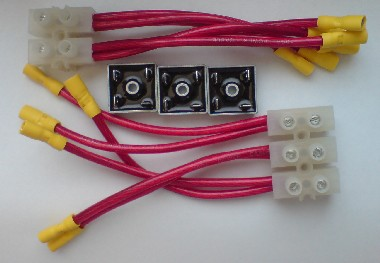 Three phase 35A bridge rectifier kit