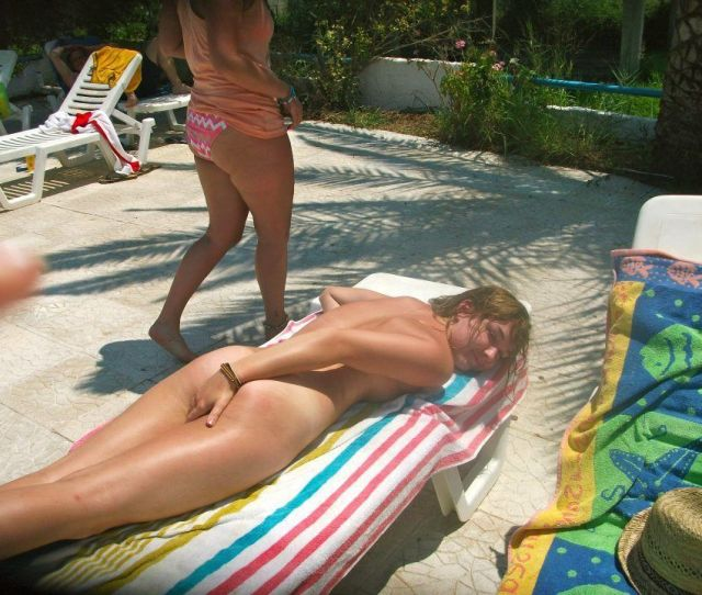 Embarrassed Butt Naked Girl