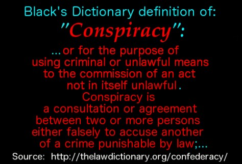 definition of conspiracy 2