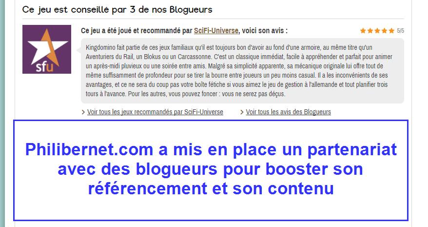 Partenariat avec des blogueurs