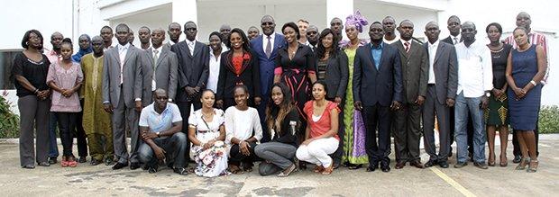 Le patriarche Babacar Ngom entouré de toute la famille SEDIMA