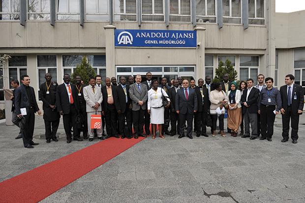 La délégation des journalistes africains en visite à l'agence de presse Anatolienne