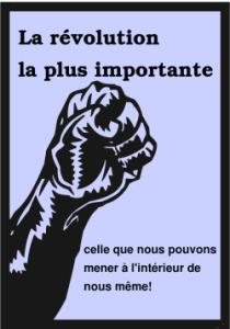 La révolution la plus importante, celle que nous pouvons mener à l'intérieur de nous même!