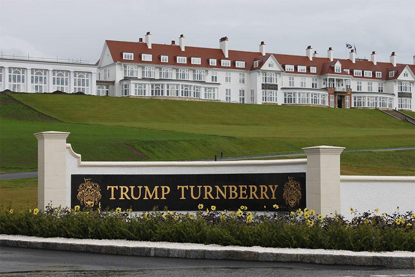 Image result for PHOTOS OF trump scotland golf course