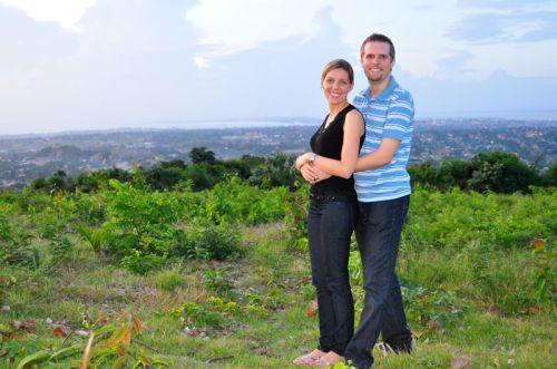 Ruth and I up on the serra (ridge overlooking the city)