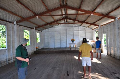 Inside the post-flooded church