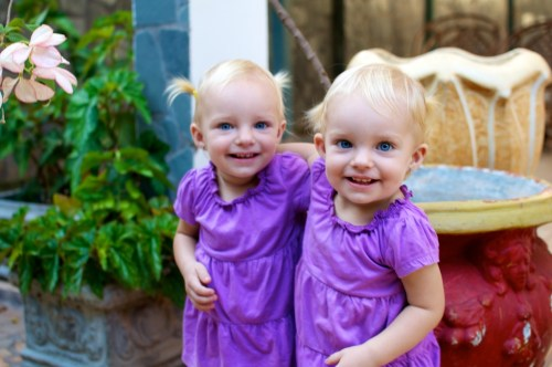 Anna and Rebecca growing up fast!