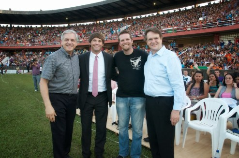 Meeting and ministering with Reinhard Bonke was one of the highlights of the Congresso.