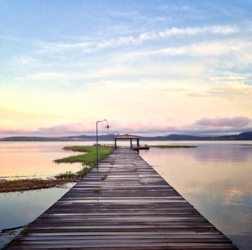 Dawn breaks on the docks at Fordlandia