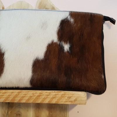 pochette rectangulaire cuir