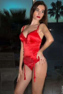 bustier rouge sexy