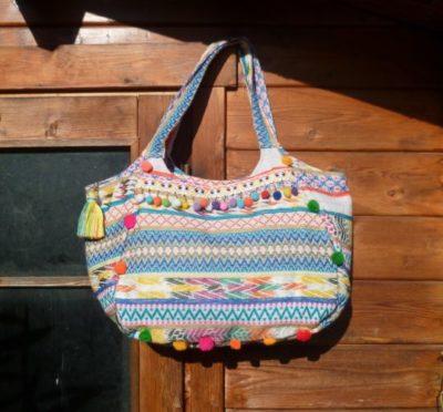 sac en toile coloré