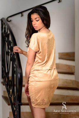 robe suedine