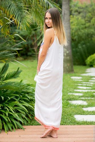 robe longue dos