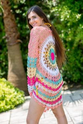 robe coton crochet