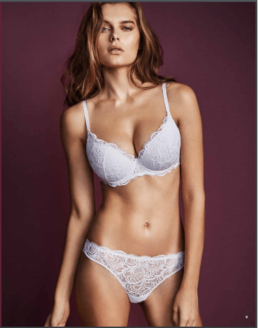 ensemble dentelle blanco