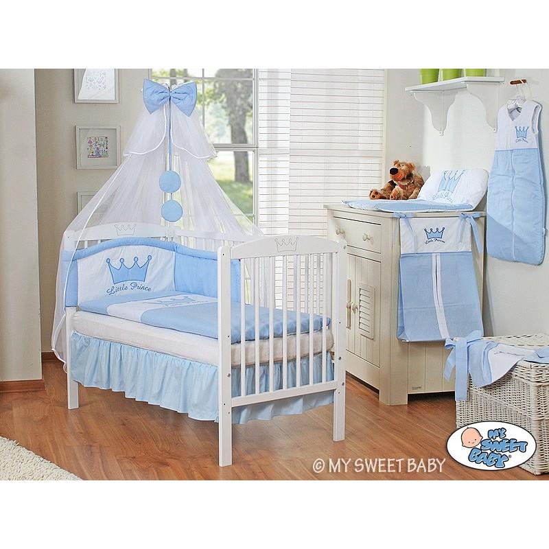 lit et parure de lit bebe prince ou princesse bleu loading zoom
