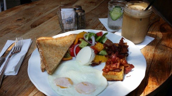 """Bacon and Eggs Breakfast at Nona""""s"""