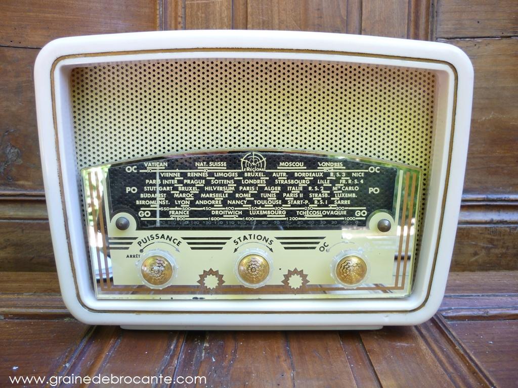 Poste De Radio Ancien Vintage TSF Marque Le Rgional Annes 50
