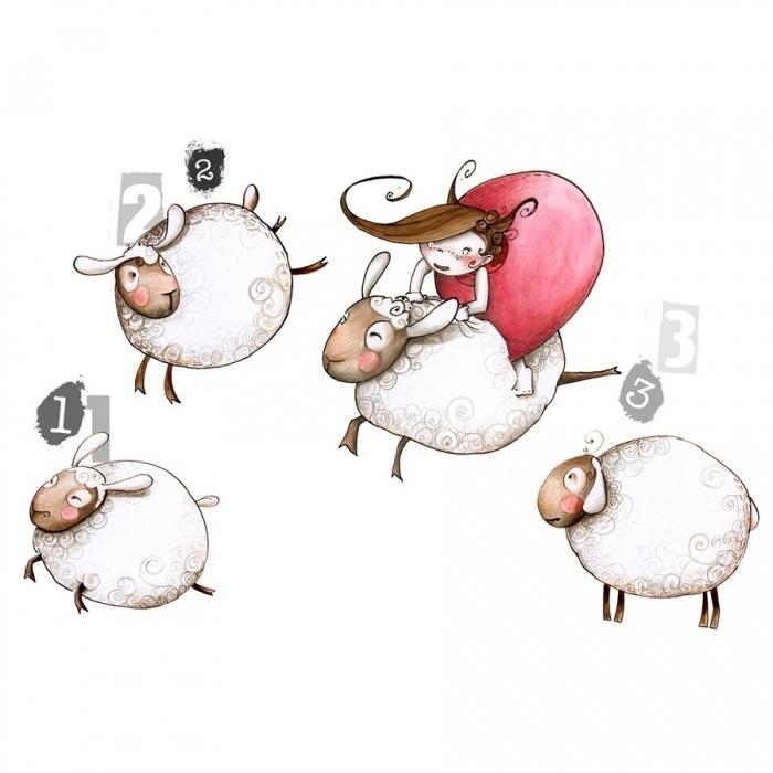 sticker enfant saute mouton acte deco