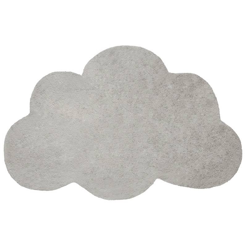 tapis coton nuage gris