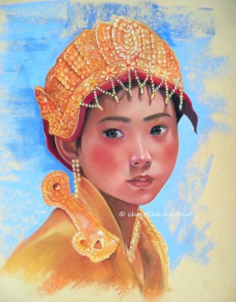 Mya, jeune birmaned'après une photo de Céline et Yannick Aveza - DISPO