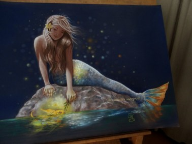 """""""le petit poisson d'Or"""" format 50 X 70 cm DISPO"""