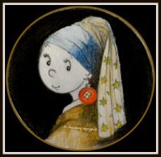 """dingo musée """"jeune dingo à la perle"""""""
