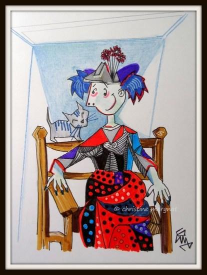 """inspirée de l'oeuvre de Picasso """"Dora Maar au chat"""""""